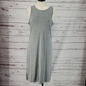 West Loop Grey Midi T Shirt Dress